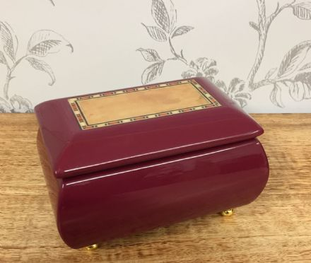 Musical Wind Up Polished Wood Jewellery Ring Box